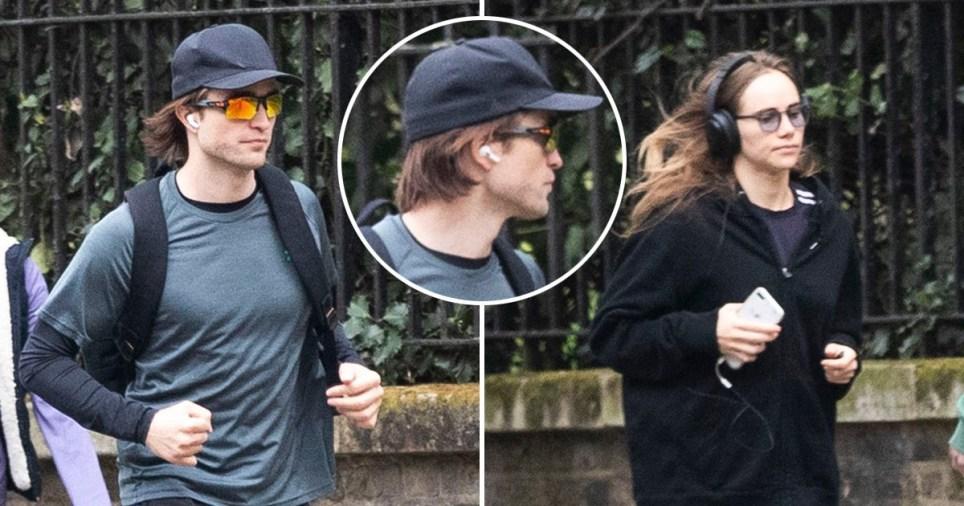 Robert Pattinson and Suki Waterhouse pictured running together in London during lockdown