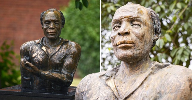 The statue of playwright Alfred Fagon has been damaged after vandals allegedly poured a 'corrosive substance' over it in Bristol.