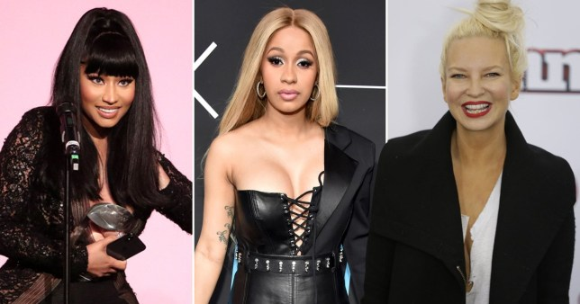 Sia, Nicki Minaj and Cardi B