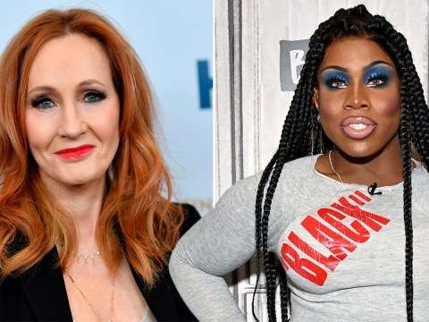 RuPaul's Drag Race star denounces JK Rowling after 'anti-trans' tweet and smashes Harry Potter wand
