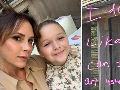 Harper Beckham's had enough of school as she leaves mum Victoria a hilarious note