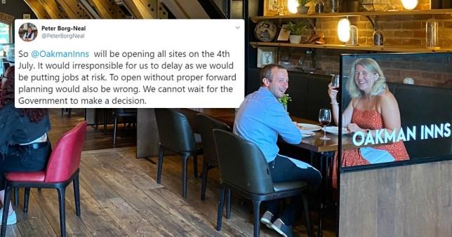 Oakman Inns pubs will reopen on July 4