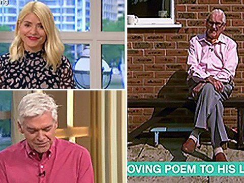 Widower's beautiful poem about late wife has Holly, Phil and This Morning viewers sobbing