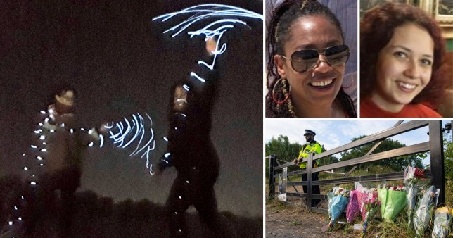 Sisters pictured dancing in park shortly before they were stabbed to death