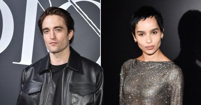 Robert Pattinson pictured separately alongside Zoe Kravtiz