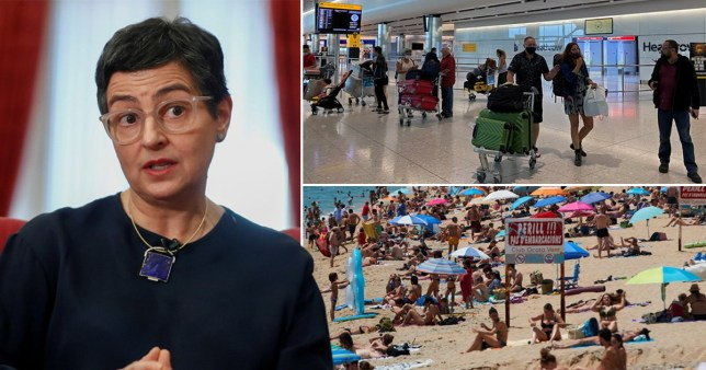 Spain's foreign minister said Brits would be 'freely' welcomed to her country