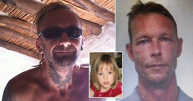 Composition picture of Michael Tatschl with German suspect Christian Brueckner and Madeleine McCann
