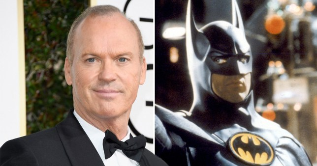 michael keaton on the red carpet and as Batman