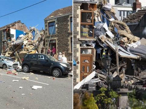 Three injured after suspected gas explosion rips apart house in Wales