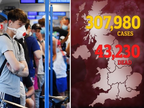 UK death toll reaches 43,230 as another 149 die