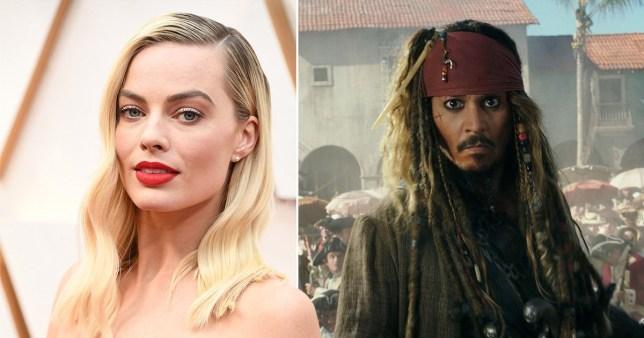 Margot Robbie Johnny Depp