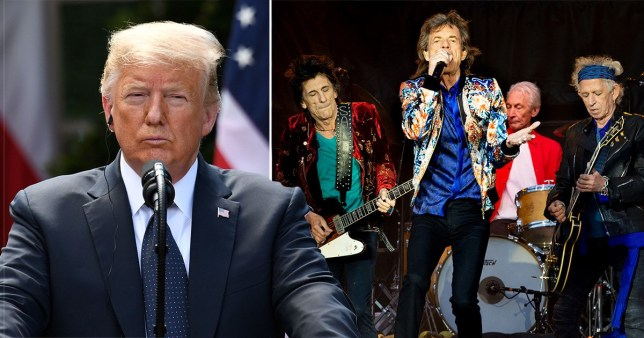donald trump and the rolling stones