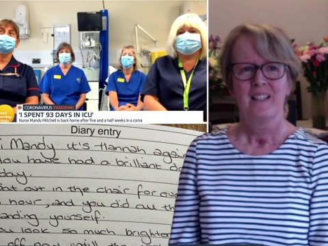 Nurses wrote diary for woman while she was in coronavirus coma for five weeks