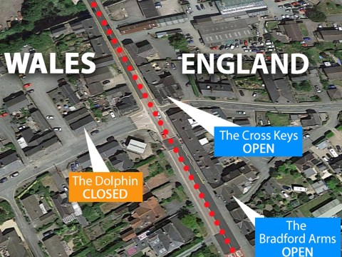 UK border towns split by coronavirus where pubs on one side of high street will reopen but stay shut on the other