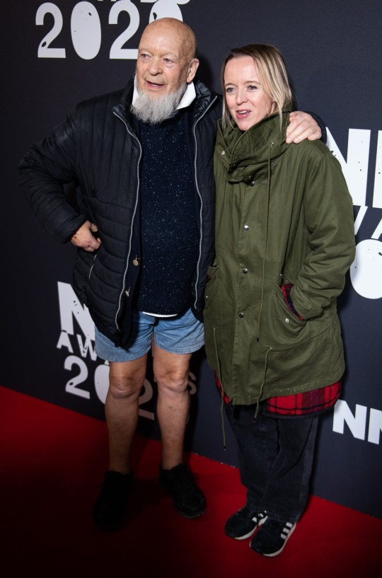 Michael and Emily Eavis on red carpet