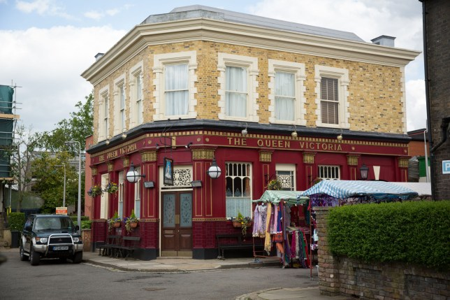 Programme Name: EastEnders - TX: n/a - Episode: EastEnders (No. n/a) - Picture Shows: Queen Vic. - (C) BBC - Photographer: Jack Barnes