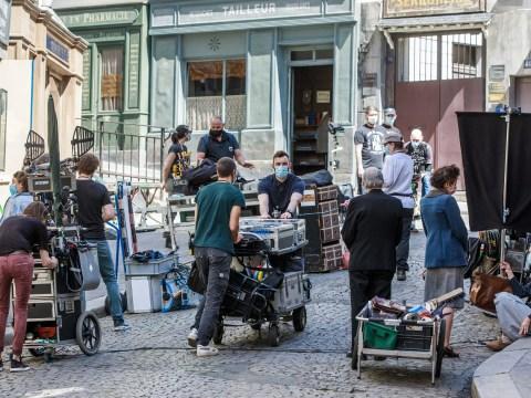 Shooting resumes on film set as lockdown eases in Paris