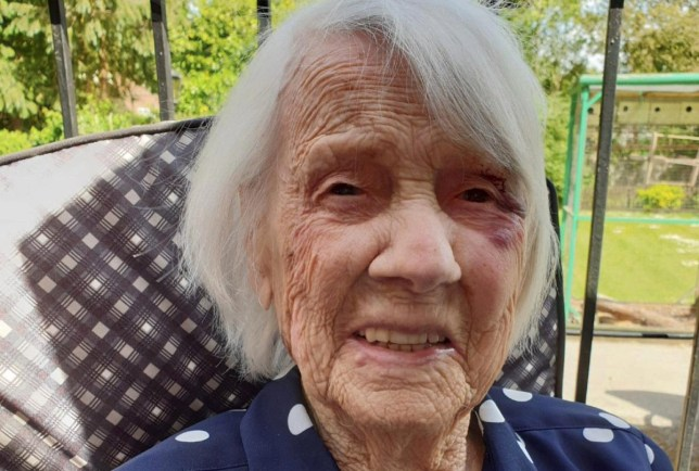 104-year-old Jane Collins beat Coronavirus in just two weeks and she credits her long life to drinking champagne. See SWNS story SWLEchampagne - A ?brilliant? 104-year-old who survived two world wars, the Spanish flu and now beat coronavirus has credited her long life - to drinking CHAMPAGNE.