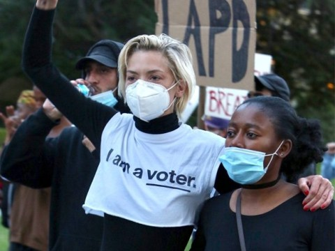 Actress Jaime King says she was arrested during 'peaceful' Black Lives Matter protest in LA