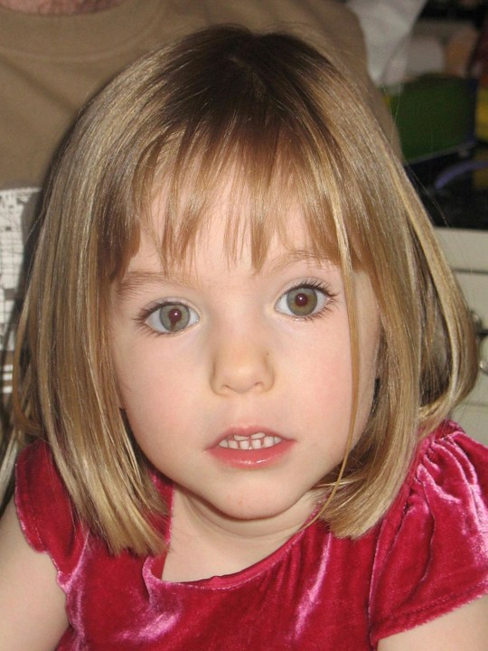 Madeleine McCann, who went missing from a holiday villa in Praia da Luz, Portugal in May 2007.