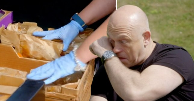 Ross Kemp crying during Britain's Volunteer Army documentary