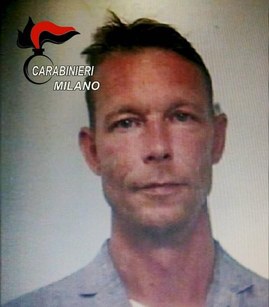 Christian Bruckner, le meurtrier présumé de Maddie McCann, la petite Anglaise de 3 ans portée disparue en 2007 au Portugal, dans un mug shot le 28 septembre 2018, alors qu'il était arrêté pour trafic international de drogue par les carabiniers MILAN