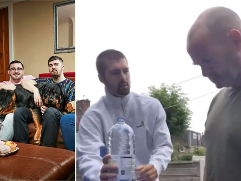 Gogglebox star Tom Malone Jr pulls TikTok water bottle prank on dad in epic video