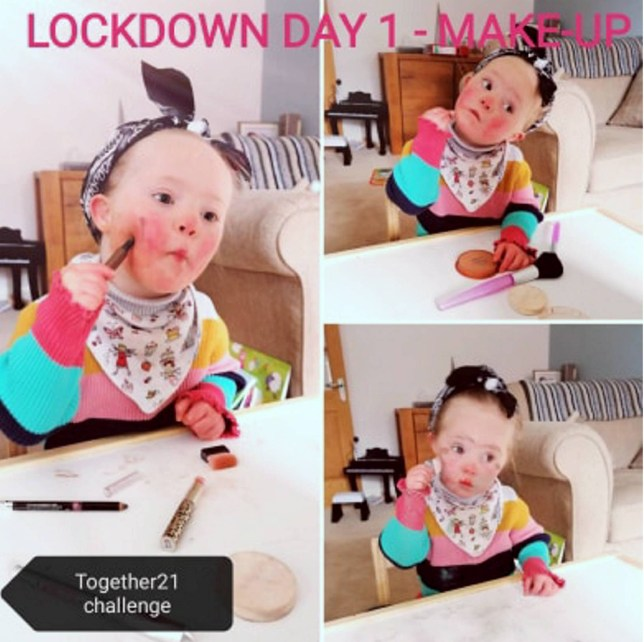 Adorable three-year-old raises £11,000 for charity with her lockdown photo diaries