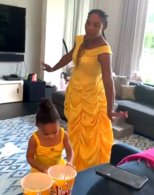serena williams daughter olympia beauty and the beast
