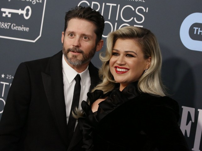 Brandon Blackstock and Kelly Clarkson arrive at 25th Annual Critics' Choice Awards in LA