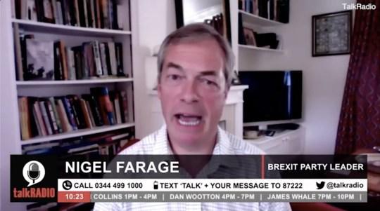Nigel Farage says losing job at LBC 'wasn't as bad as the plane crash'