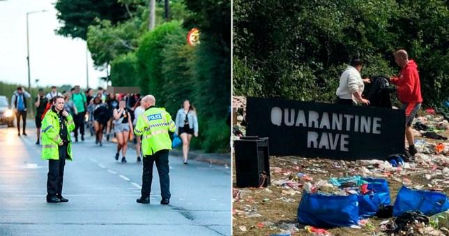 Police break up illegal rave