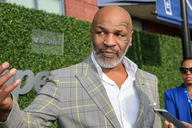 Mandatory Credit: Photo by Aurora Rose/REX (10372628bd) Mike Tyson US Open Tennis Championships, Day 1, USTA National Tennis Center, Flushing Meadows, New York, USA - 26 Aug 2019