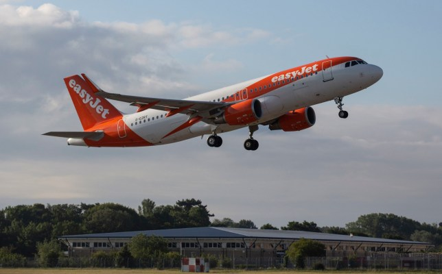 EDITORIAL USE ONLY easyJet flight EZY883 takes-off from London Gatwick bound for Glasgow as the airline restarts operations for the first time in 11 weeks since the carrier grounded all planes on March 30th as a result of the Covid-19 pandemic. PA Photo. Picture date: Monday June 15, 2020. The airline resumes flying today from eight UK airports with new bio-security measures in place on all its services. easyJet's first ever flight from London-Luton to Glasgow took off on 10 November 1995. Photo credit should read: Matt Alexander/PA Wire