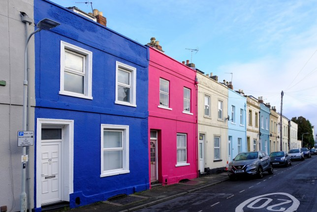 St Mark Street in Gloucester is getting a rainbow bright makeover thanks to tash frootko