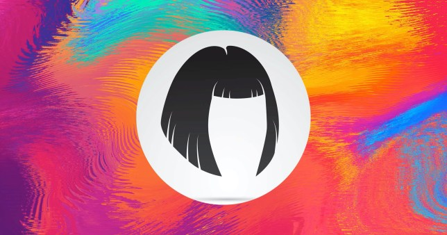 illustration of a bob haircut on a colourful background