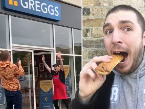 Ladbaby reunited with sausage rolls amid lockdown as Greggs reopens
