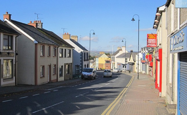 Main Street, Dungiven (Picture: Richard Webb/Geograph) Detectives are investigating an aggravated burglary at flat in Main St. Dungiven shortly before midnight in which three masked men assaulted the male occupant who remains in hospital. This is being treated as a racially motivated hate crime.