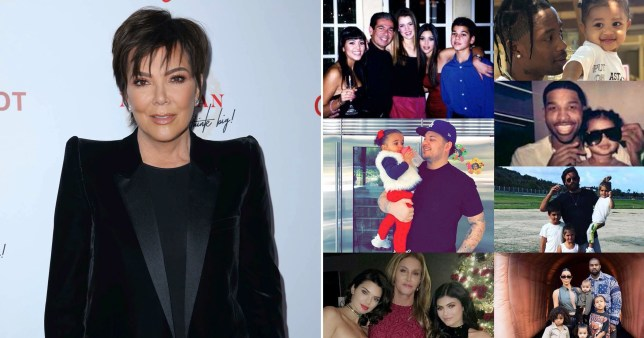 Kris Jenner pictured alongside her Instagram post celebrating all the fathers in the Kardashian family