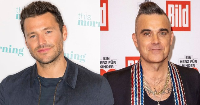 Mark Wright and Robbie Williams