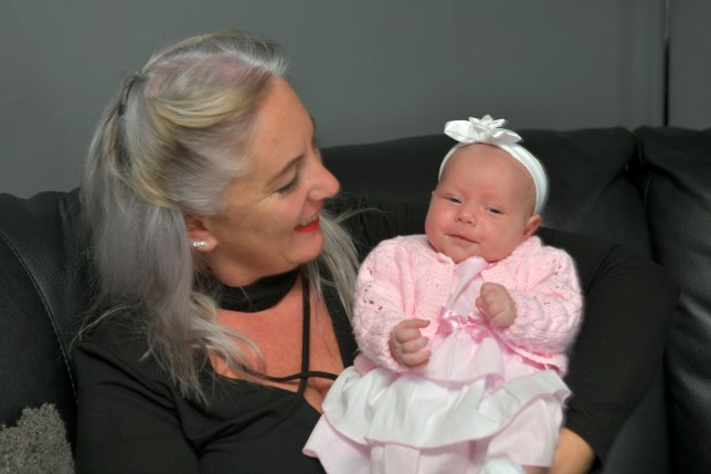 Georgina Leslie with baby Aleena Shaw