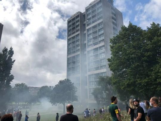 Picture of smoke at Kennington block of flats
