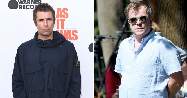 Simon Gregson and Liam Gallagher bury feud with a pint