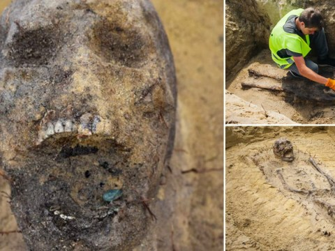 Remains of 100 children with coins stuffed in their mouths found at construction site