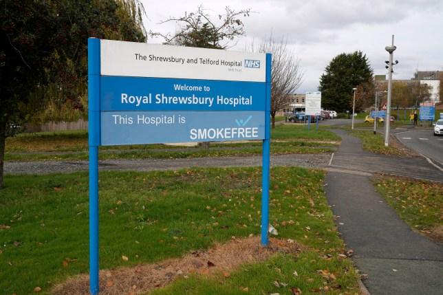 A general view of The Royal Shrewsbury Hospital on November 20, 2019 in Shrewsbury, England.