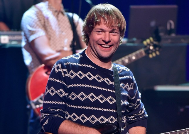 BURBANK, CA - AUGUST 26: Musician Mickey Madden performs onstage druing the iHeartRadio Album Release Party with Maroon 5 LIVE on the CW at iHeartRadio Theater on August 26, 2014 in Burbank, California. (Photo by Kevin Winter/Getty Images for Clear Channel)
