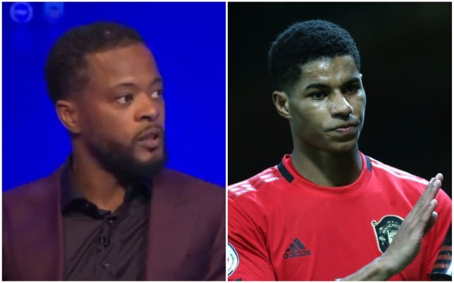 Patrice Evra claims Marcus Rashford has said he will never leave Manchester United