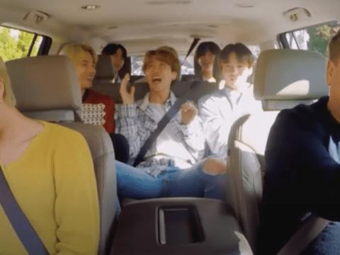 BTS and James Corden present the Baby Shark x Lil Jon remix in unseen Carpool Karaoke clip