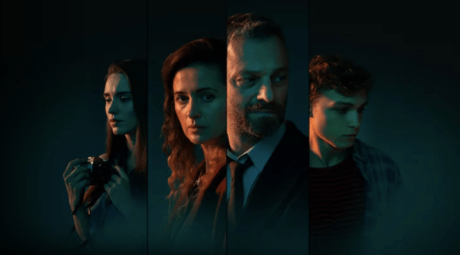 Four characters from Netflix show The Woods.