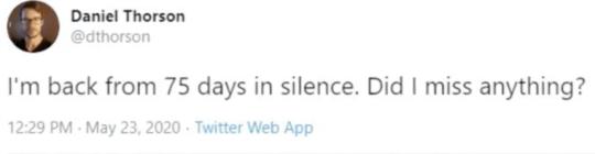 Capture d'écran du tweet
